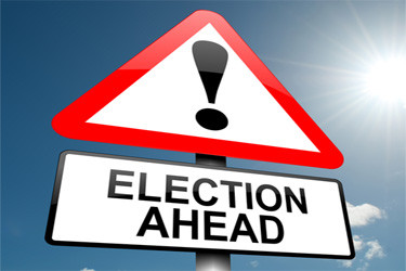 election ahead sign 375x250