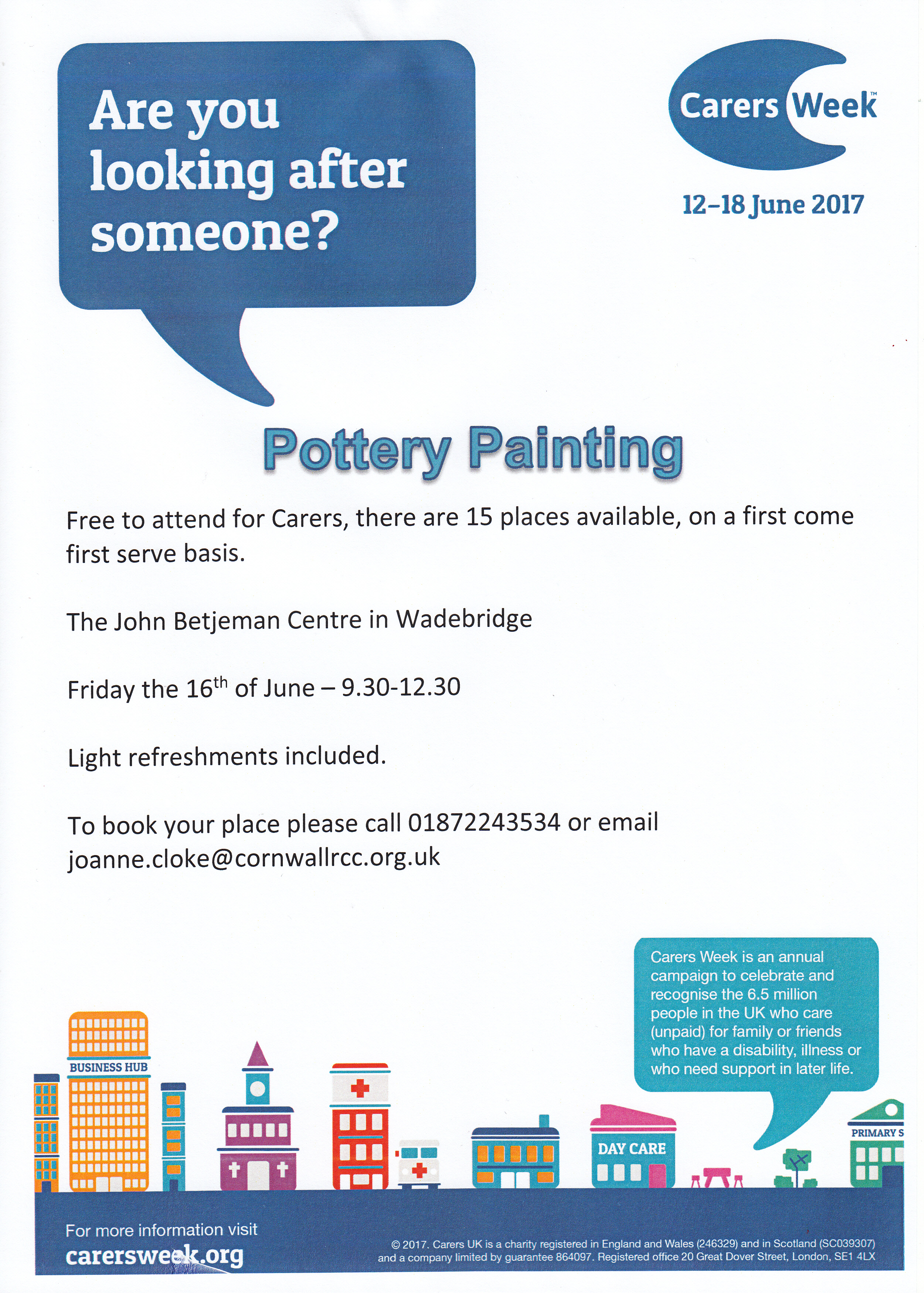 Carers Week Pottery
