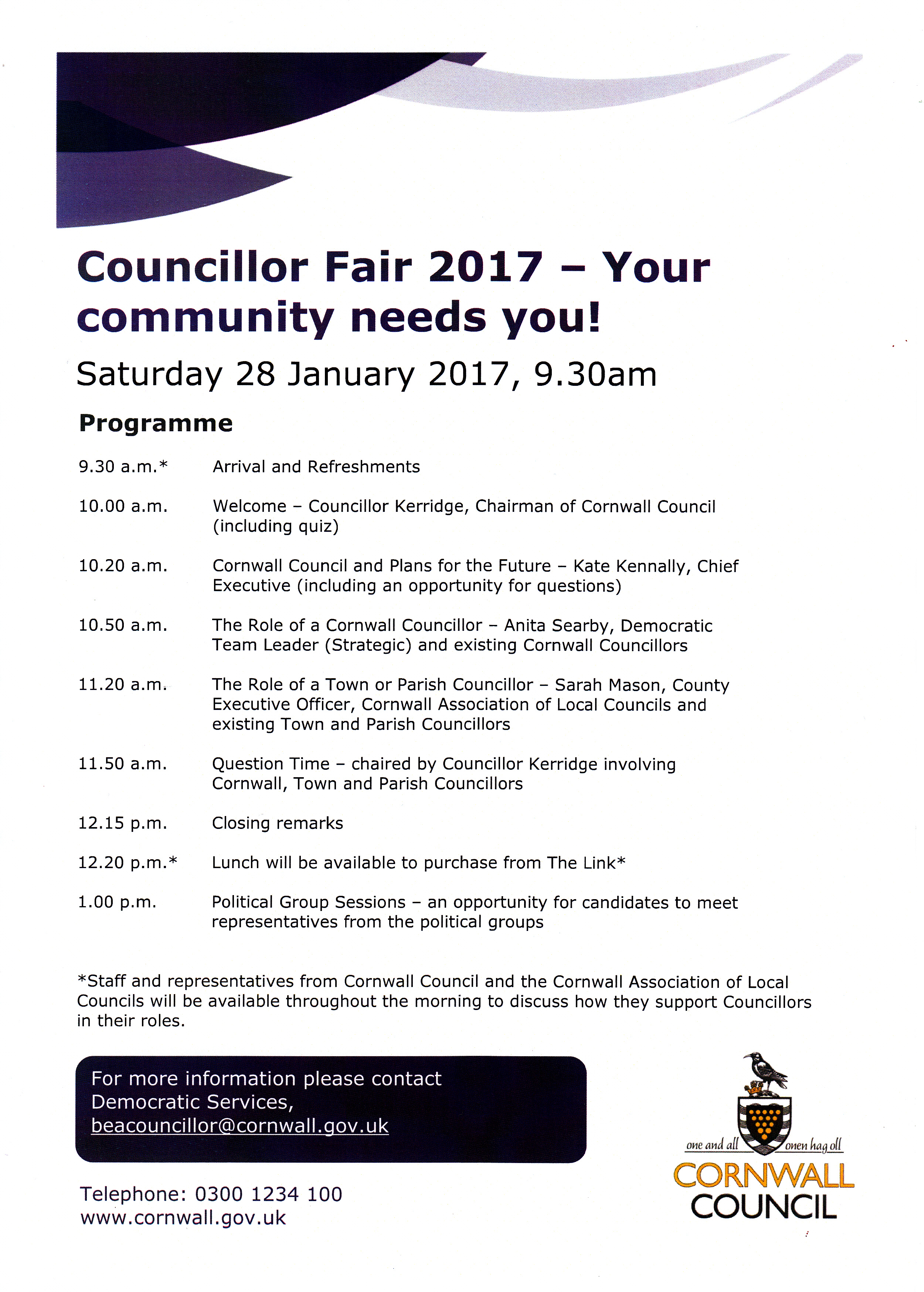 Councillor Fair 2017 poster