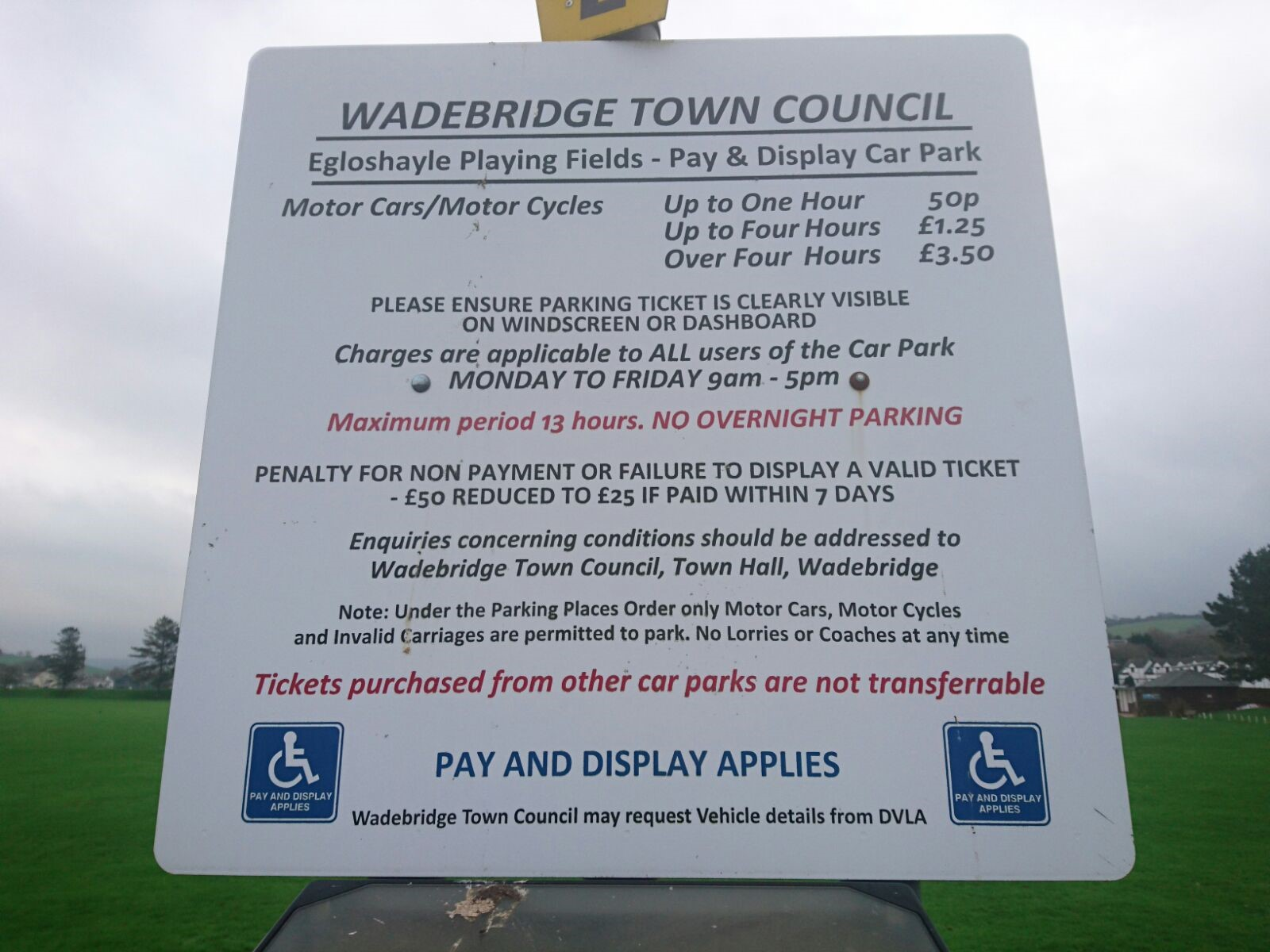 Eglos Car Park Sign