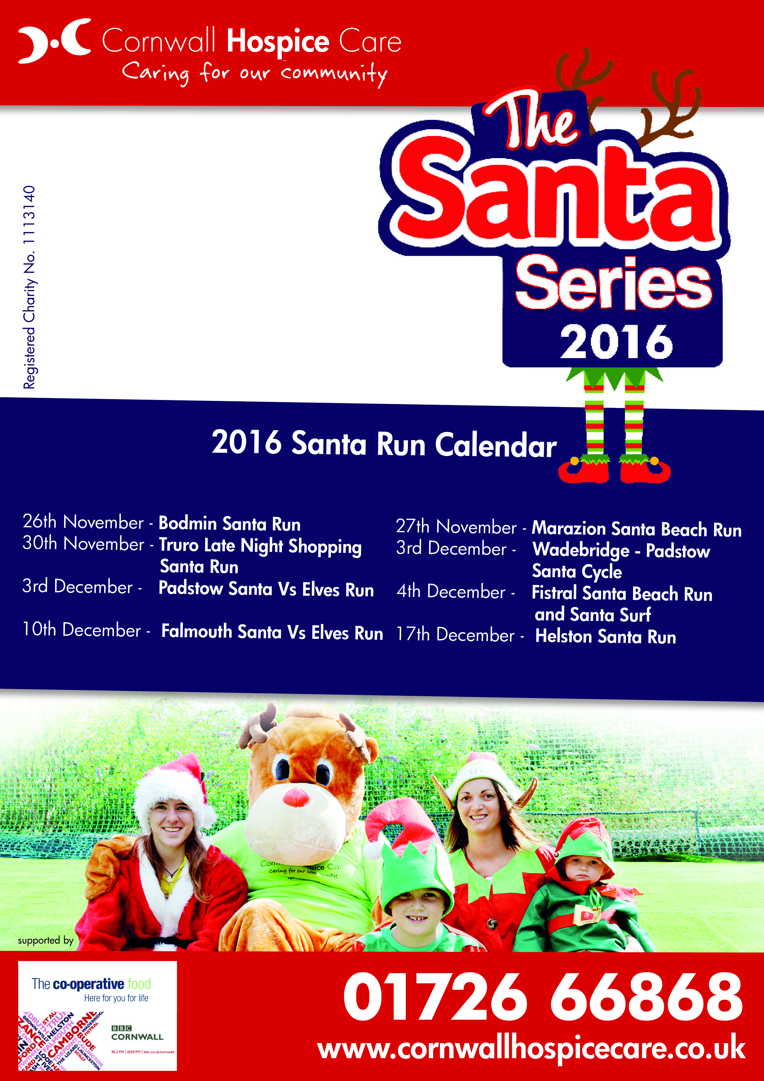 Santa Series flyer A5 with crop marks